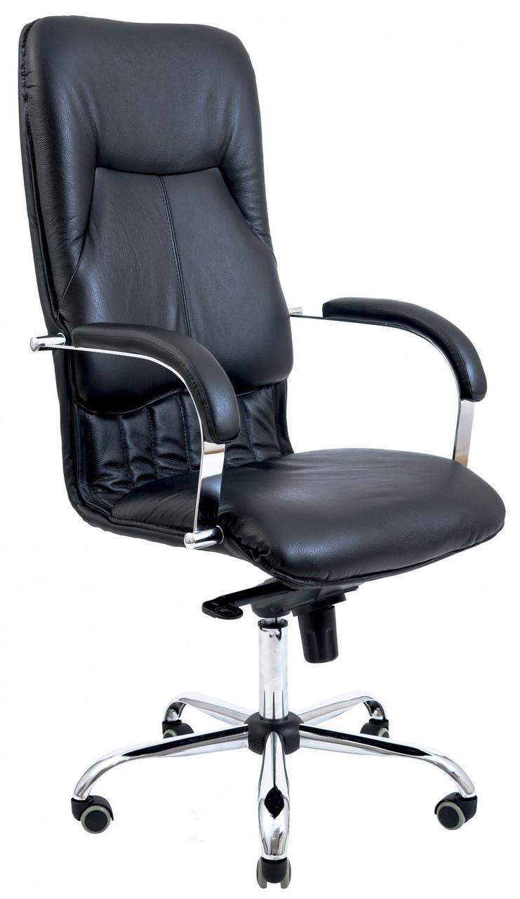 Офисное Кресло Руководителя Richman Никосия Флай 2230 Хром М2 AnyFix Черное
