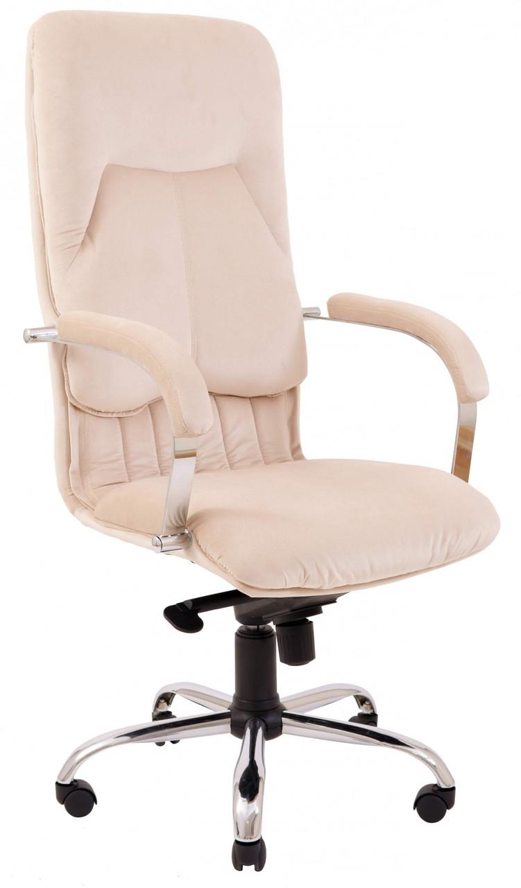 Офисное Кресло Руководителя Nicosia Фанкони 02 Хром М2 AnyFix Бежевое