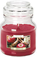 Свеча ароматизированная Bispol яблоко-корица 10 см (snd71-87)