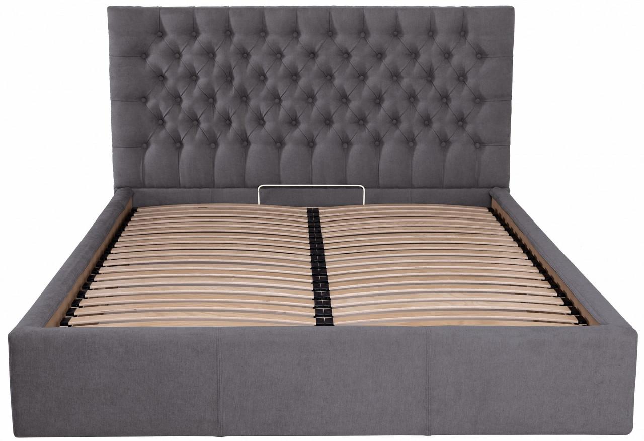 Кровать Двуспальная Richman Кембридж Standart 180 х 190 см Мисти Dark Grey Темно-серая