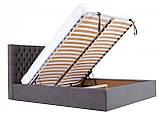 Кровать Richman Кембридж Comfort 120 х 190 см Мисти Dark Grey С подъемным механизмом и нишей для белья, фото 7