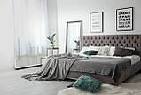 Кровать Richman Кембридж VIP 140 х 200 см Мисти Dark Grey С дополнительной металлической цельносварной рамой, фото 8