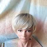 Парик боб-каре из канекалона платиновый блонд с корнями AGATA-YS4-26, фото 2
