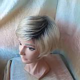 Парик боб-каре из канекалона платиновый блонд с корнями AGATA-YS4-26, фото 6