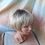 Парик боб-каре из канекалона платиновый блонд с корнями AGATA-YS4-26, фото 3