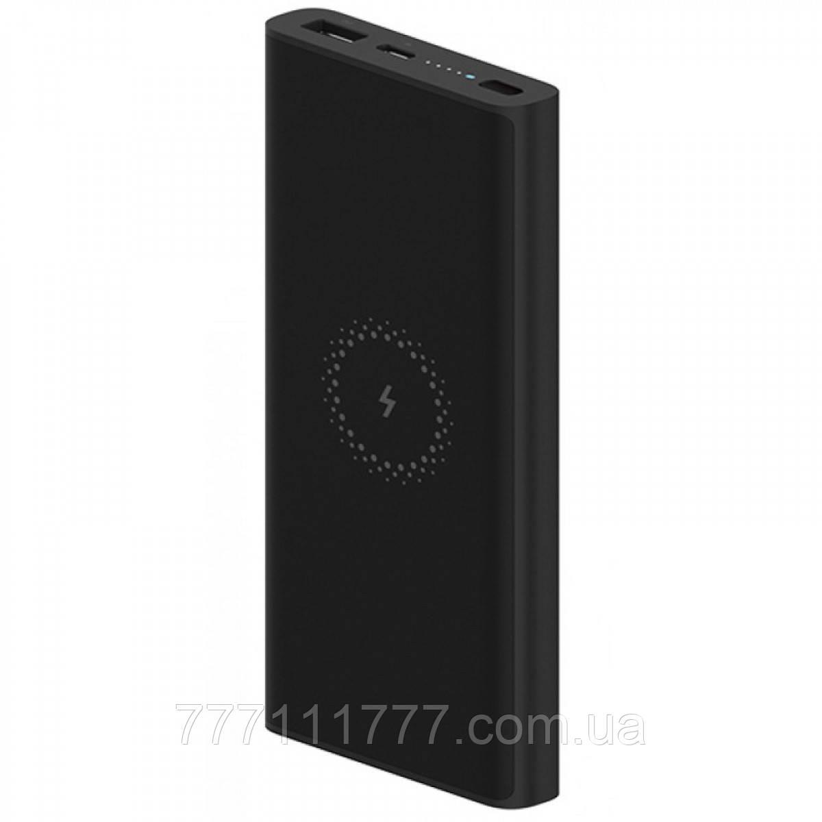 Павер банк черный с хорошей батареей Power Bank Xiaomi Mi Youth Edition 10000mAh Black(индукционная зарядка)