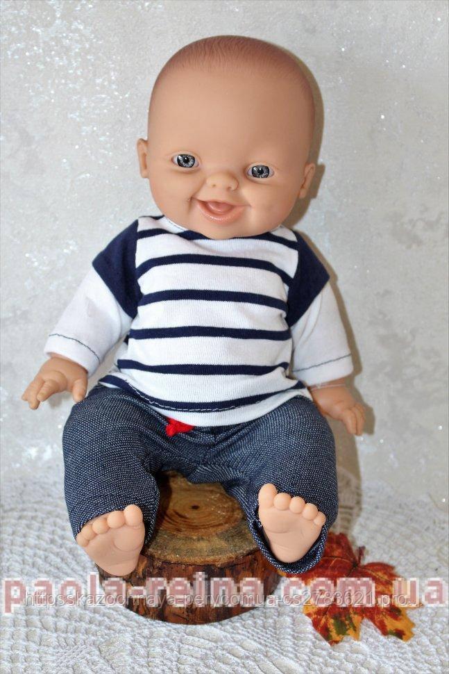 Лялька пупс Горді в наряді морячка, 34 см