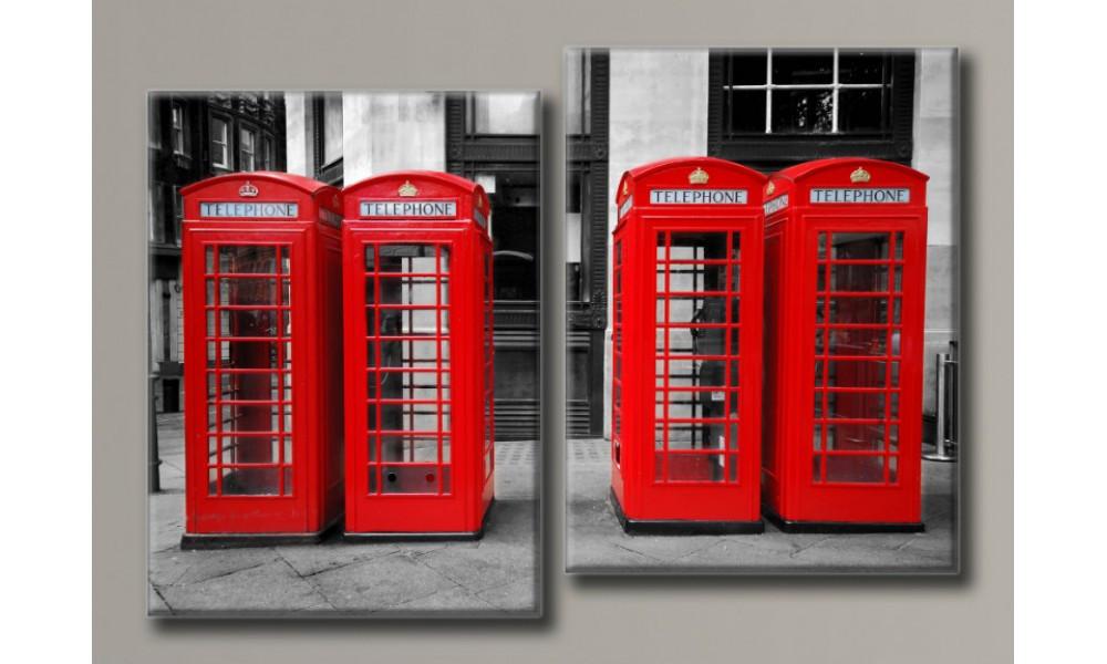 Модульная картина на холсте Лондонский шарм 79,5х113,5 см (HAD-017)