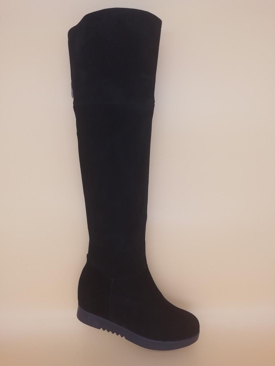 Высокие зимние сапоги. Ботфорды. Маленькие размеры (33 - 35).