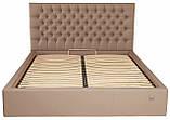 Кровать Coventry VIP 140 х 200 см Флай 2213 С дополнительной металлической цельносварной рамой Коричневая, фото 2