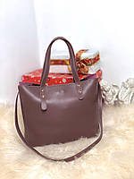 Женская пудровая городская вместительная сумка шоппер молодежная экокожа, фото 1