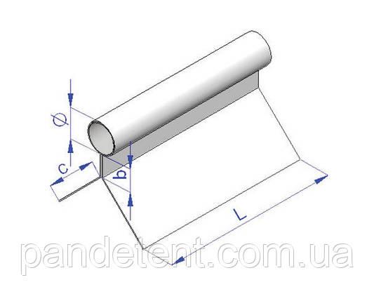 Кедер пвх для штор диаметром 7,5 мм (ликтрос, лик-трос) для тентов, палаток, павильонов., фото 2