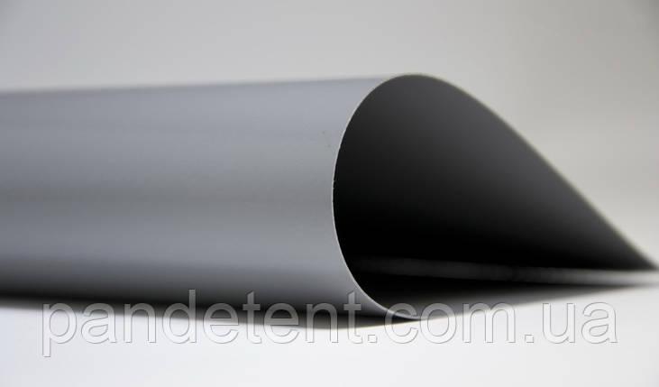 Пвх ткань тентовая 650 темно-серая, Бельгия для тента, прицепа, на фуру, шторы. Водо- и морозостойкая, фото 2