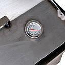 Коптильня горячего копчения 2мм 520х310х280мм с термометром + 2кг щепа (коптилка,каптилка), фото 8