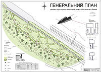 Генплан скульптурного сквера «Шевченкова алея» в м. Каневі