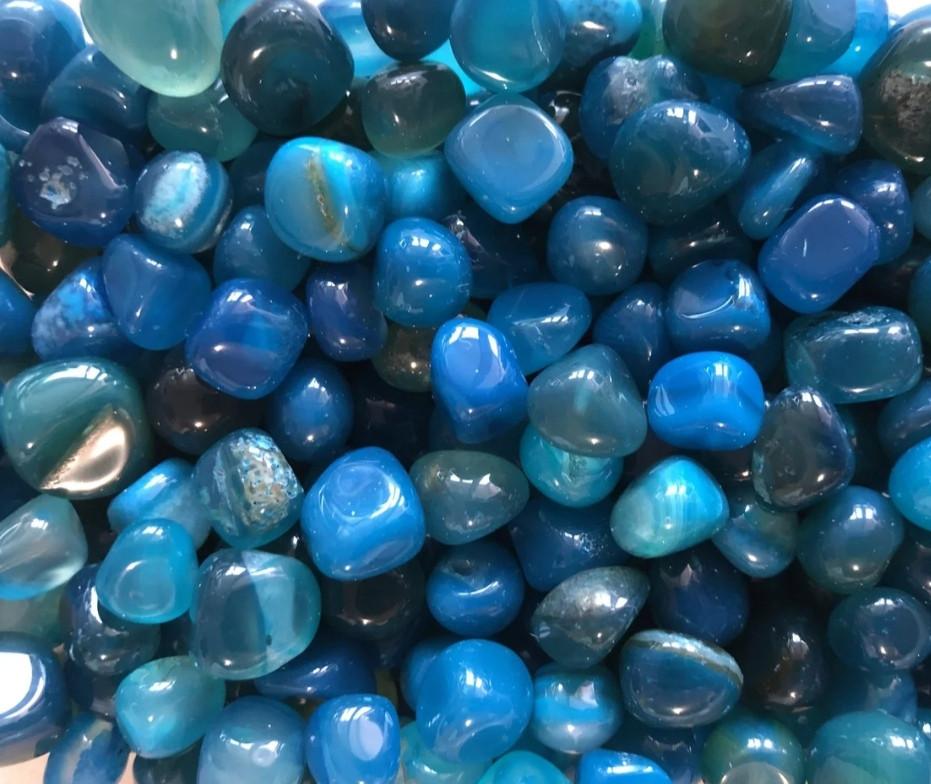 Камень натуральный агат голубой,округленный,фракция размер 10-22 мм, 20г