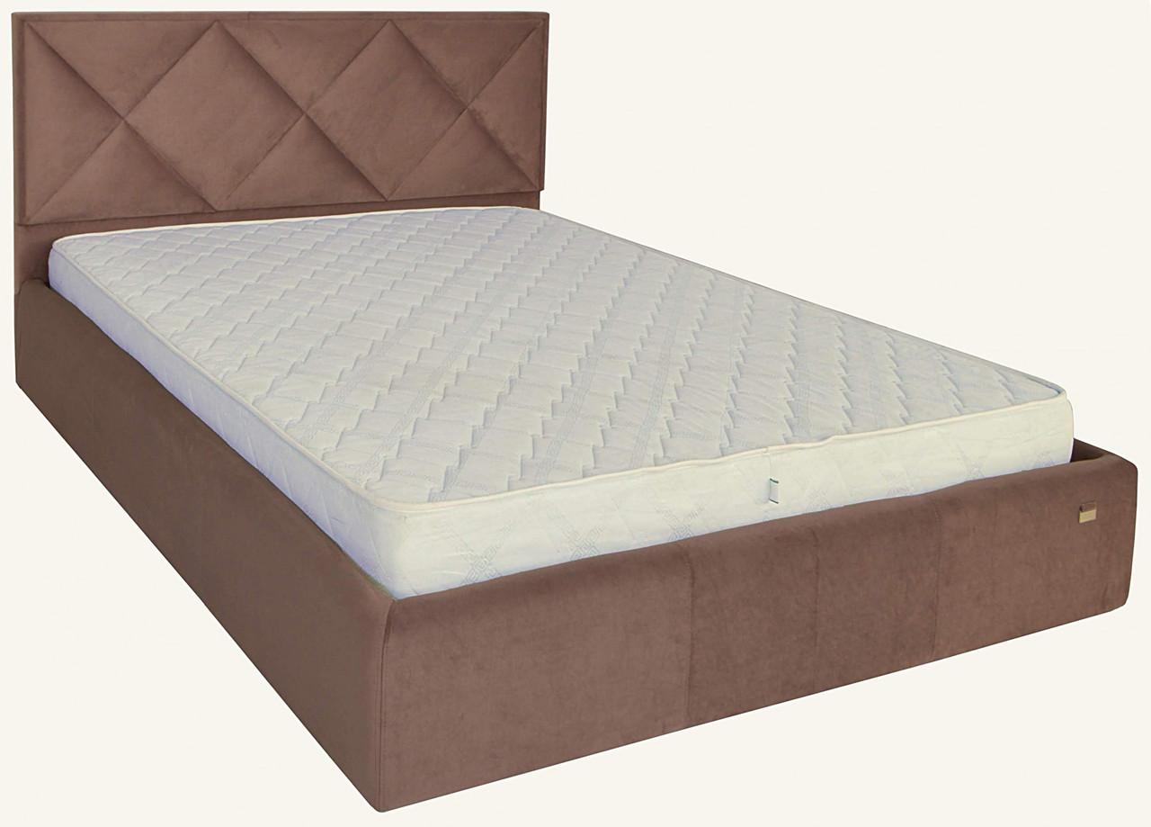 Кровать Двуспальная Leeds Comfort 180 х 200 см С подъемным механизмом и нишей для белья Коричневая