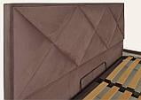 Кровать Двуспальная Leeds Comfort 180 х 200 см С подъемным механизмом и нишей для белья Коричневая, фото 3