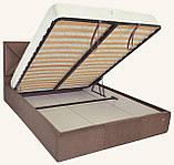 Кровать Двуспальная Leeds Comfort 180 х 200 см С подъемным механизмом и нишей для белья Коричневая, фото 4
