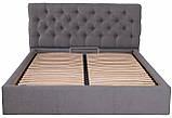 Кровать London Comfort 140 х 200 см Мисти Dark Grey С подъемным механизмом и нишей для белья Темно-серая, фото 2