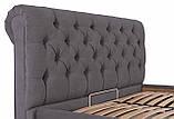 Кровать London Comfort 140 х 200 см Мисти Dark Grey С подъемным механизмом и нишей для белья Темно-серая, фото 5