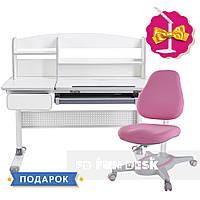 Комплект парта для школьников Cubby Rimu Grey+детское кресло FunDesk Primavera I Pink, фото 1