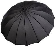 Зонт-трость мужской Австрия полуавтомат черный BST 106056