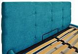 Кровать Richman Манчестер Comfort 140 х 190 см С подъемным механизмом и нишей для белья Голубая, фото 3
