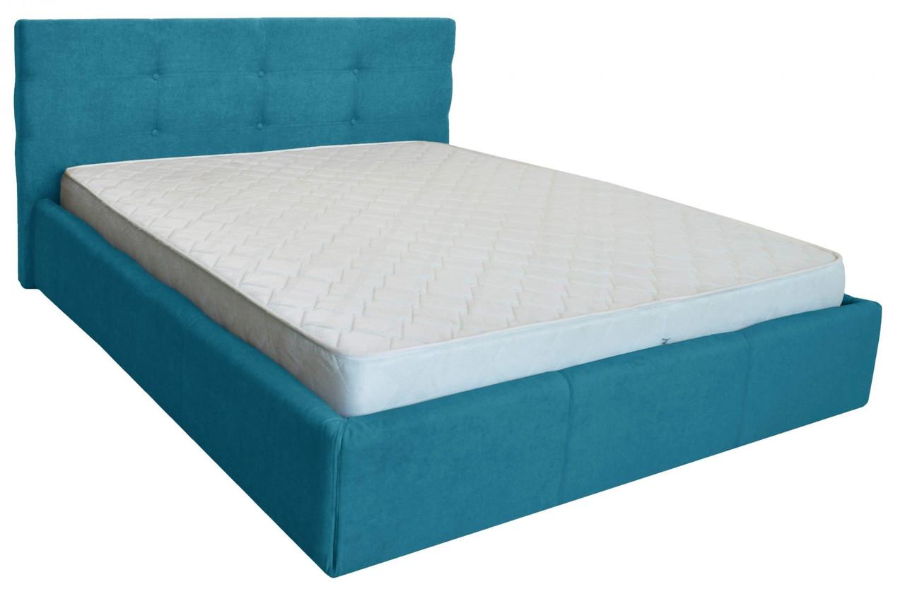 Кровать Двуспальная Manchester Comfort 180 х 200 см С подъемным механизмом и нишей для белья Голубая