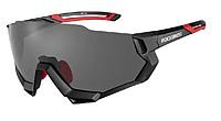 Фирменные велоочки спортивные очки Rосkbros с диоптриями 5 сменных линз и поляризация
