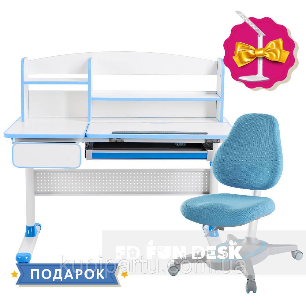 Комплект для школяра парта Cubby Rimu Blue + універсальне крісло FunDesk Primavera I Blue