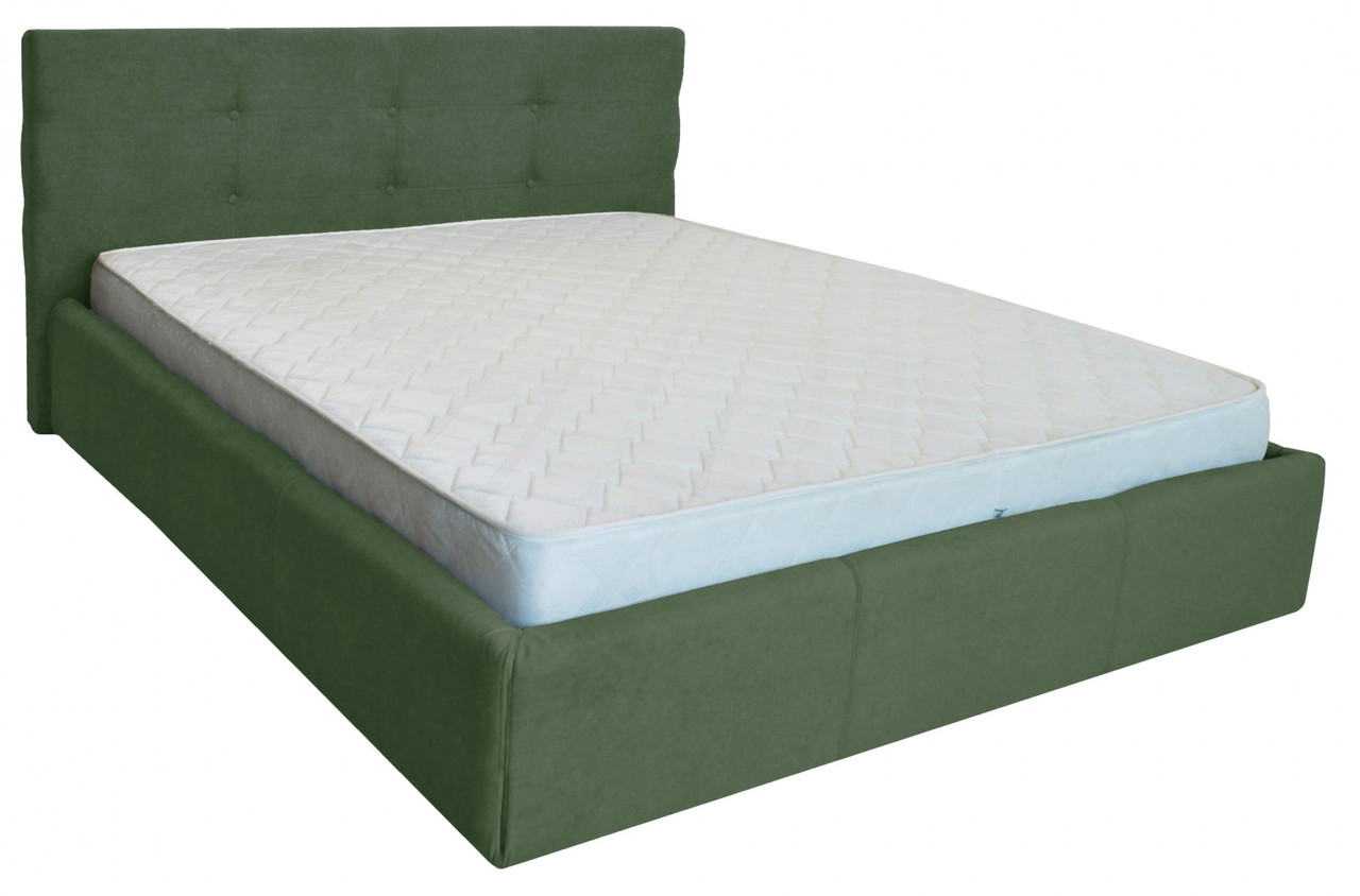 Кровать Manchester Comfort 120 х 200 см С подъемным механизмом и нишей для белья Зеленая