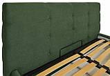Кровать Manchester Comfort 120 х 200 см С подъемным механизмом и нишей для белья Зеленая, фото 3
