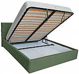 Кровать Manchester Comfort 120 х 200 см С подъемным механизмом и нишей для белья Зеленая, фото 4