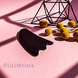 Массажер скребок ГуаШа черный, смола, фото 2