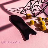 Массажер скребок ГуаШа черный, смола, фото 4