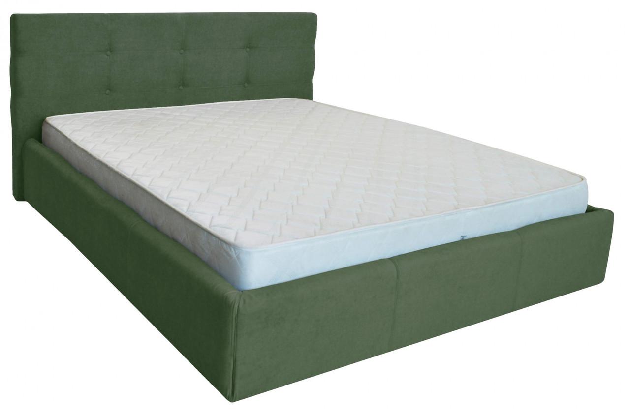 Ліжко Двоспальне Richman Манчестер Vip 180 х 190 см З додаткової металевої суцільнозварний рамою Зелена