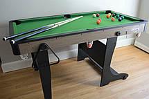 Cкладной бильярдный стол Air Zone 5 футов 152 х 84 х 79 см для взрослых и детей, фото 3