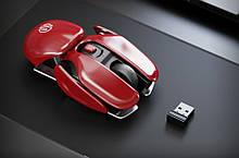 Мышь компьютерная беспроводная Inphic PX2 4 кнопки беспроводная красная