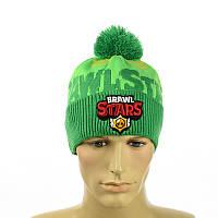 "Зимняя шапка ""Бравл Старс"" (Brawl Stars) зеленый, фото 1"