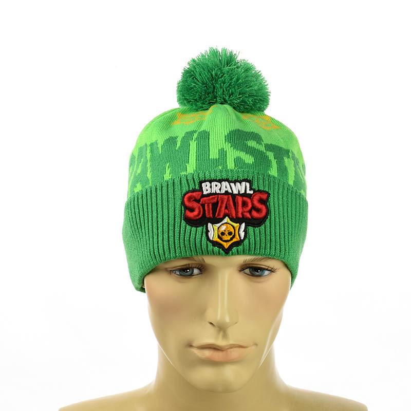 "Зимняя шапка ""Бравл Старс"" (Brawl Stars) зеленый"