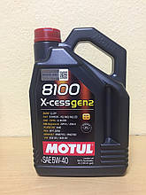 Масло MOTUL 8100 X-cess 5W-40 4л (104256)