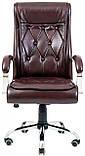 Офисное Кресло Руководителя Richman Телави Мадрас Bordo Хром М1 Tilt Бордовое, фото 2