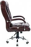 Офисное Кресло Руководителя Richman Телави Мадрас Bordo Хром М1 Tilt Бордовое, фото 3