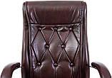 Офисное Кресло Руководителя Richman Телави Мадрас Bordo Хром М1 Tilt Бордовое, фото 5
