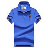 Разные цвета Мужская футболка поло хлопок премиум в стиле ральф лорен, фото 3