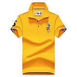 Разные цвета Мужская футболка поло хлопок премиум в стиле ральф лорен, фото 4