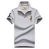 Разные цвета Мужская футболка поло хлопок премиум в стиле ральф лорен, фото 5