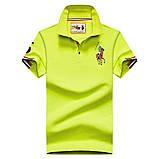 Разные цвета Мужская футболка поло хлопок премиум в стиле ральф лорен, фото 6