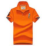 Разные цвета Мужская футболка поло хлопок премиум в стиле ральф лорен, фото 7